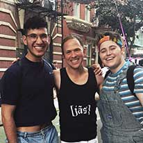 With two of my favorite students at NYC Pride, Noah and Miles.