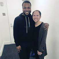 With Sean right after he was cast in Broadway's Hamilton!